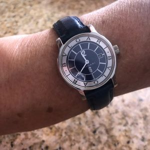 Bvlgari leather watch for women